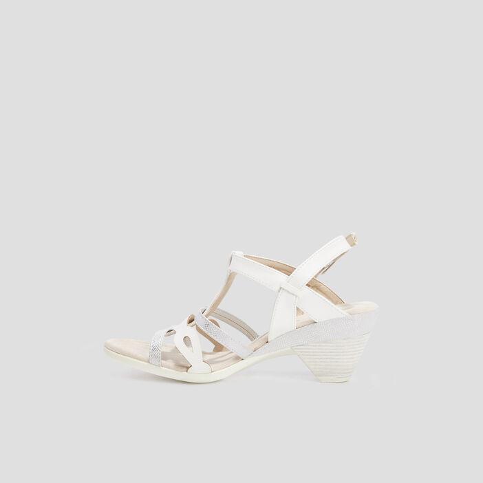 Sandales à talon femme blanc
