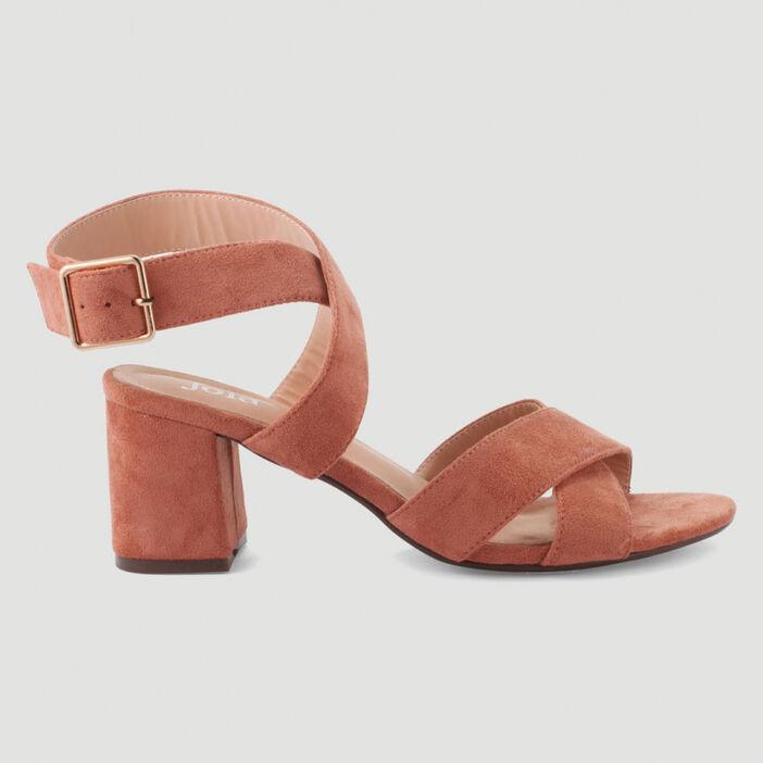 Sandales à brides croisées femme rose