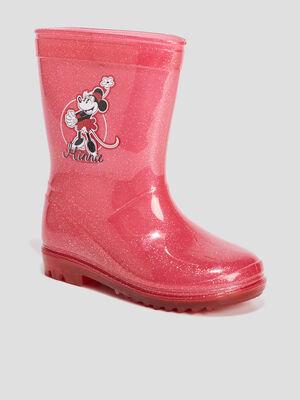 Bottes de pluie Minnie rose fille