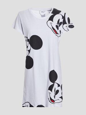 Chemise de nuit Mickey blanc femme
