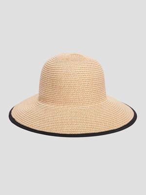 Chapeau en paille noir femme