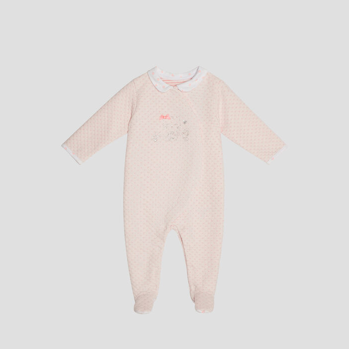 Dors-bien manches longues bébé fille rose