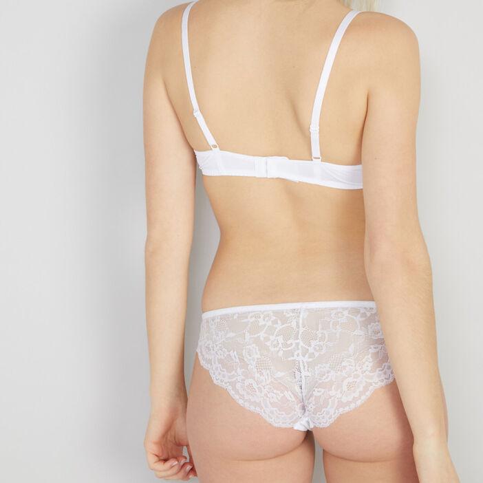 Culotte avec dentelle femme blanc