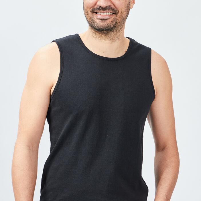 Débardeur bretelles larges homme noir
