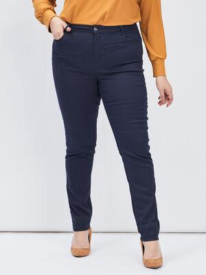 Pantalon slim grande taille bleu marine femmegt