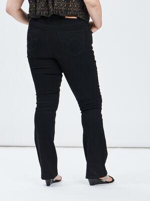 Jeans bootcut noir femmegt