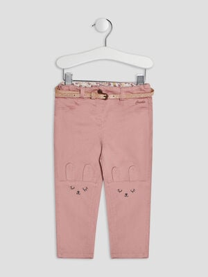 Pantalon slim rose bebef