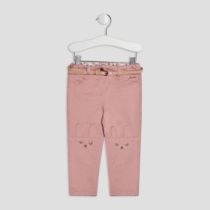 Pantalon slim bébé fille rose