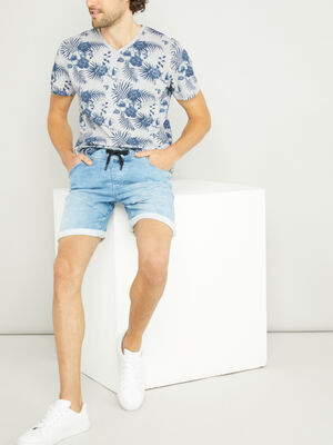 Short en denim delave denim bleach homme