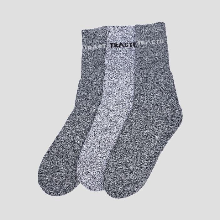 Lot 3 paires chaussettes homme gris