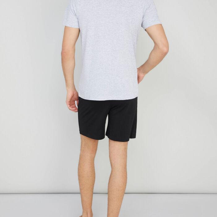 Pyjama bicolore coton majoritaire homme gris