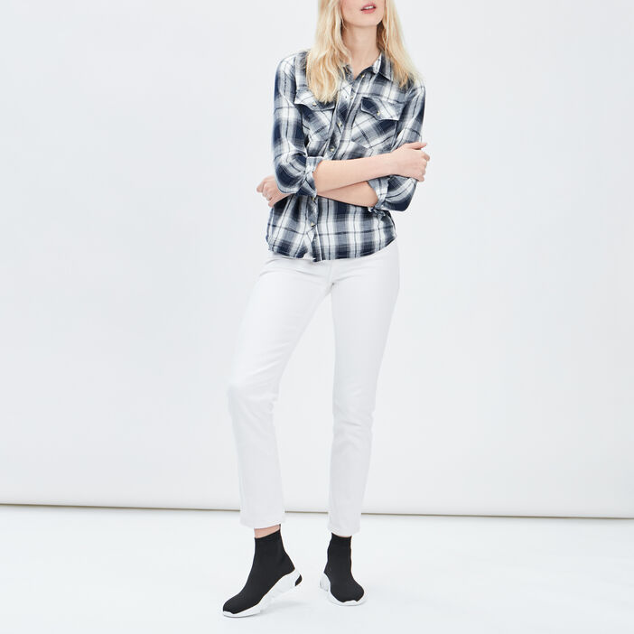 Jeans boyfriend Creeks femme blanc