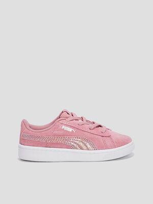 Baskets tennis Puma rose fille