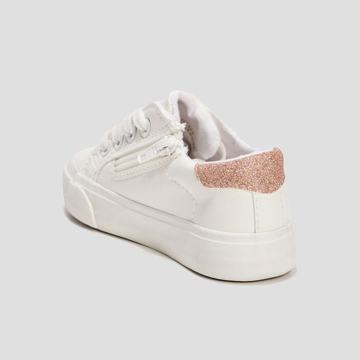 Baskets à détails pailletés fille blanc
