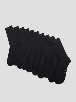 Chaussettes noir mixte