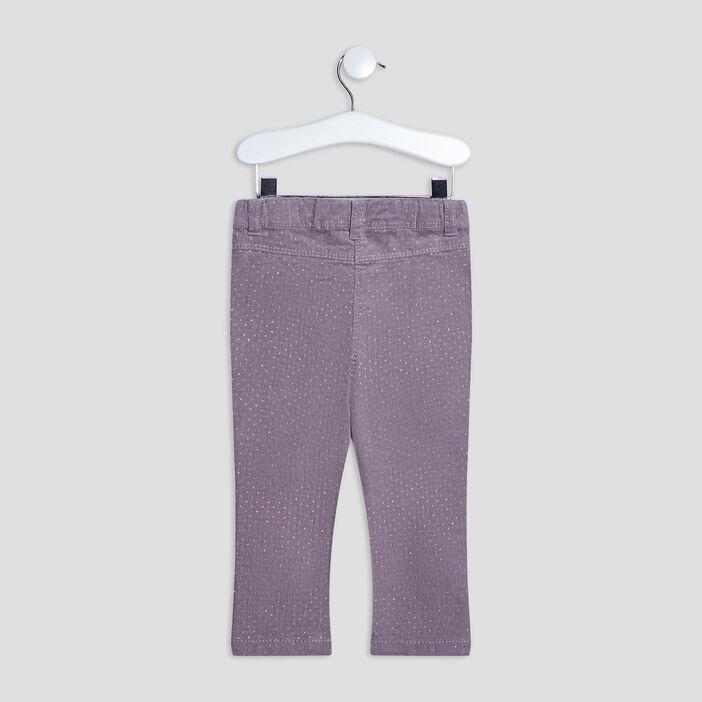 Pantalon slim bébé fille taupe