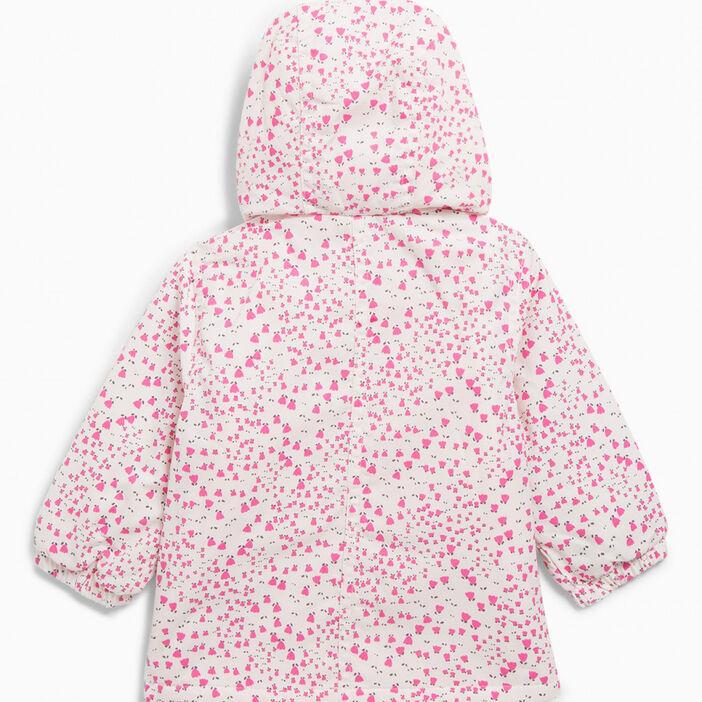 Blouson imprimé à capuche fille rose