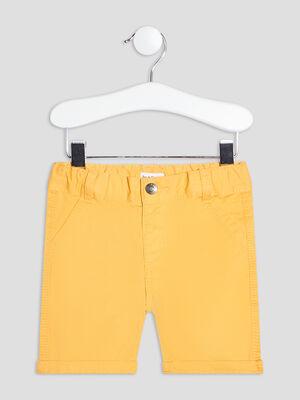 Bermuda droit jaune moutarde bebeg