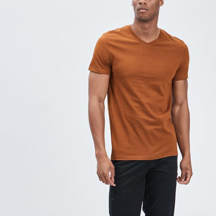 T-shirt manches courtes homme camel