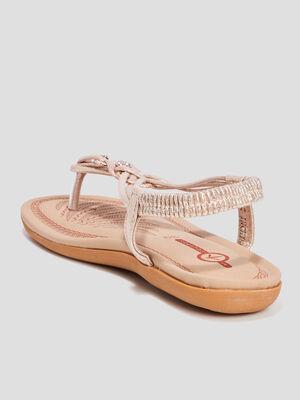 Sandales Mosquitos couleur or femme