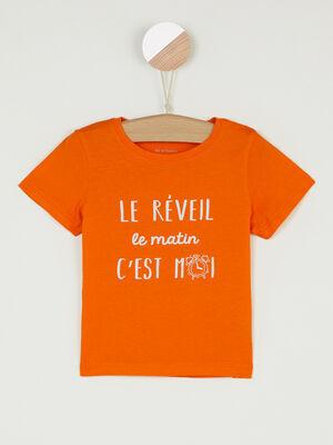 T shirt Pat et Ripaton orange bebeg