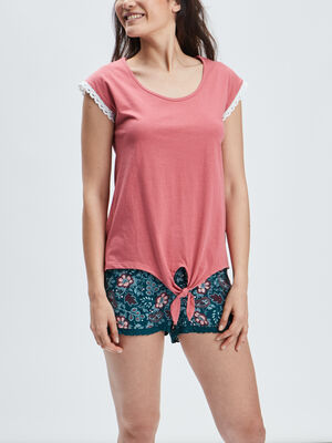 Ensemble pyjama 2 pieces rose femme