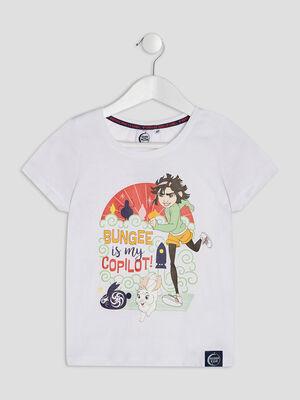 T shirt Voyage vers la Lune blanc fille