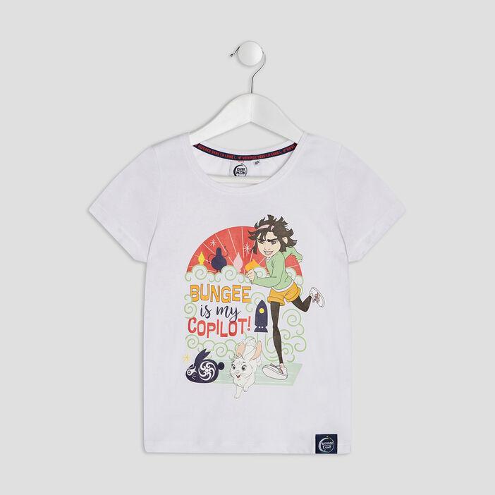 T-shirt Voyage vers la Lune fille blanc