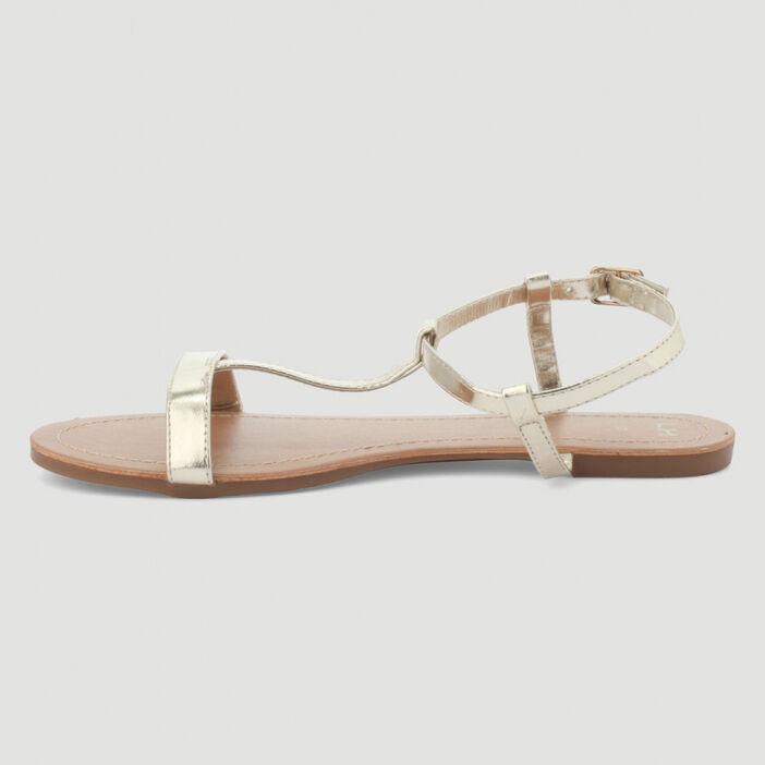 Nu-pieds avec bride femme couleur or