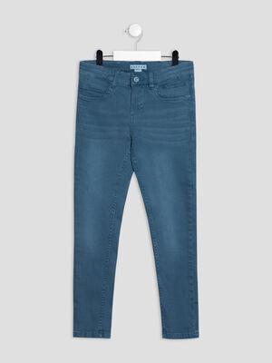 Pantalon slim Creeks bleu petrole garcon