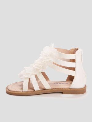 Sandales spartiates Liberto blanc fille
