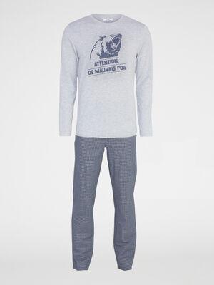 Pyjama gris homme