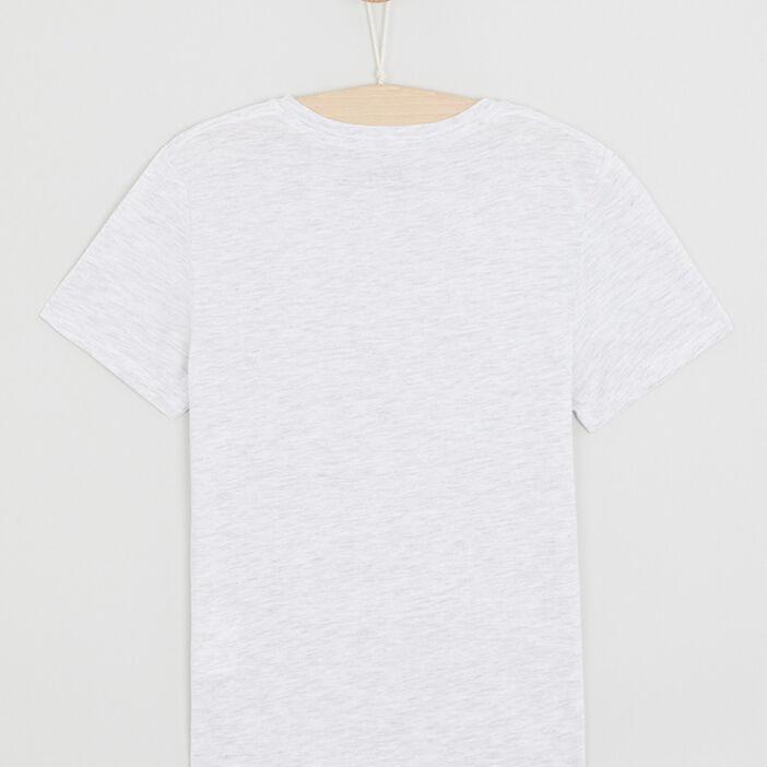 T-shirt chiné à manches courtes garçon ecru