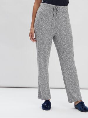 Pantalon de pyjama gris clair femme