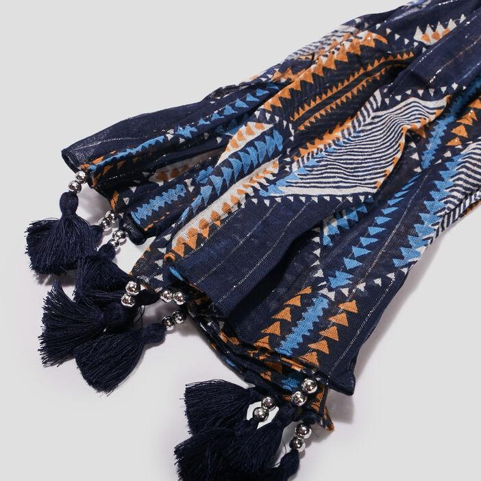 Foulard à pampilles femme multicolore