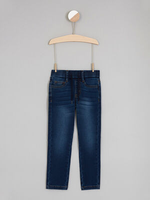 Jean coupe slim taille extensible denim stone garcon