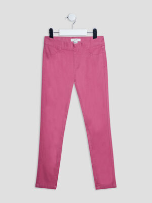 Pantalon tregging rose framboise fille