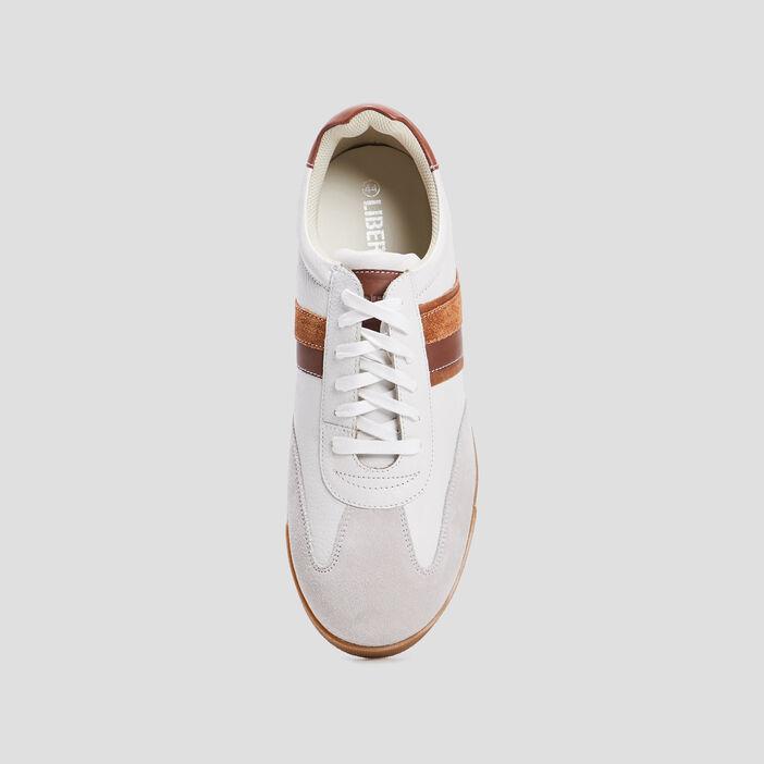 Sneakers à lacets Liberto homme blanc