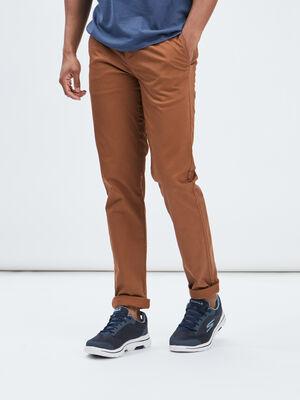 Pantalon straight marron clair homme