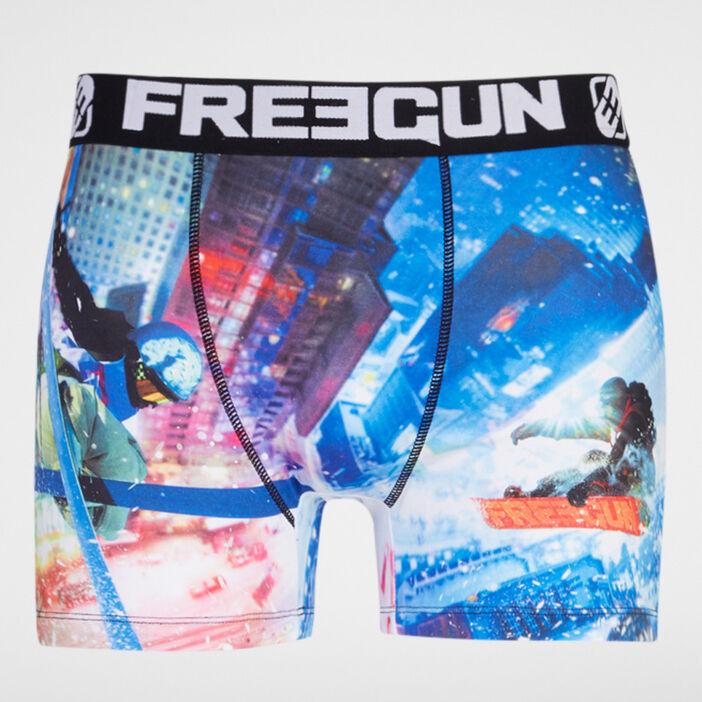 Caleçon Freegun imprimé sports extrêmes homme bleu