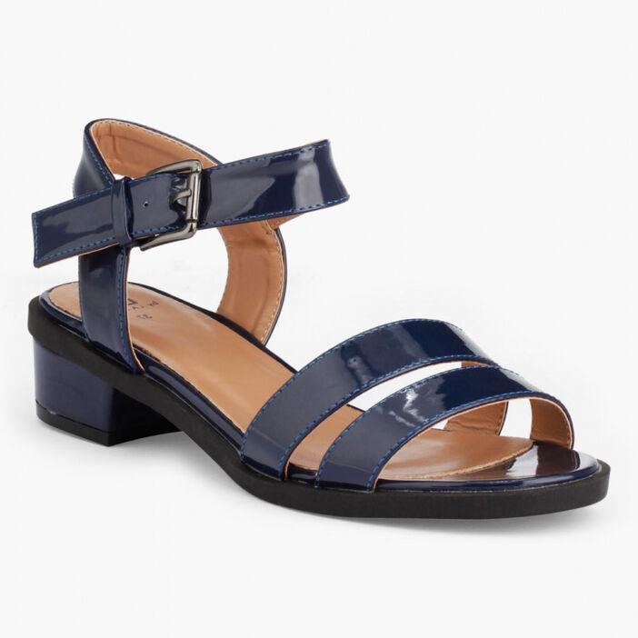 Sandales vernies à talon femme bleu