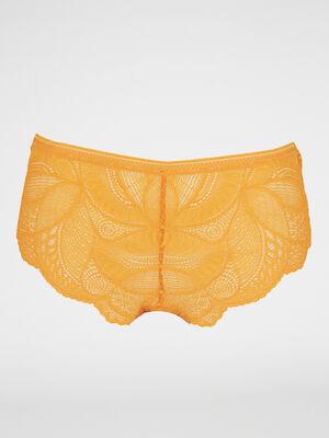 Boxer dentelle NESSIA jaune femme