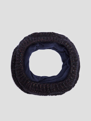 Snood double bleu marine fille