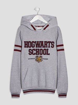 Sweat a capuche Harry Potter gris garcon