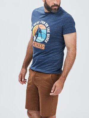 T shirt manches courtes Creeks bleu homme