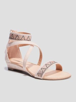 Sandales a strass Liberto rose fille