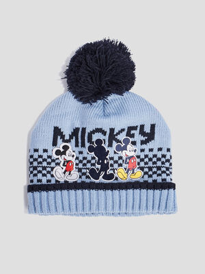 Bonnet a pompon Mickey multicolore