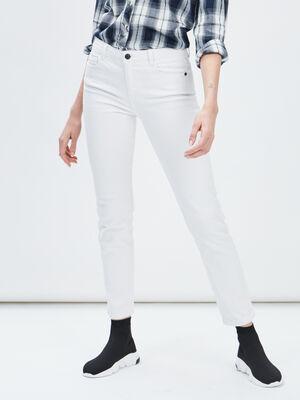 Jeans boyfriend Creeks blanc femme