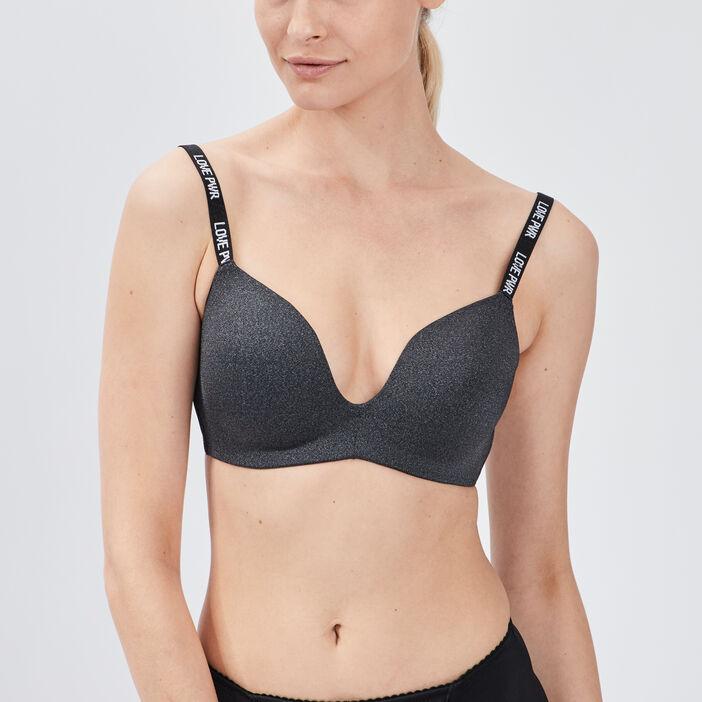 Soutien-gorge triangle femme gris