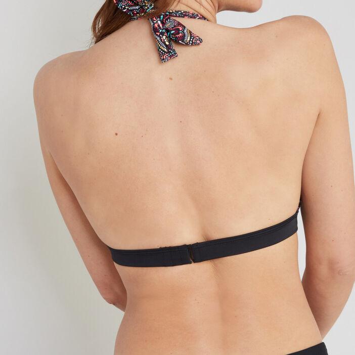 Haut de maillot triangle imprimé Louis femme multicolore